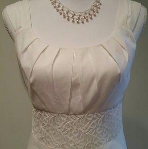 NWOT White Linen & Lace Sundress